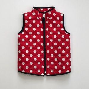 Polka Dot Red, White, & Black Vest - 2T